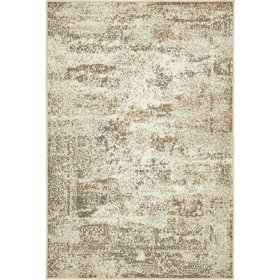 Forcalquier Abstract Cream Area Rug Rug Size: Rectangle 4 x 6