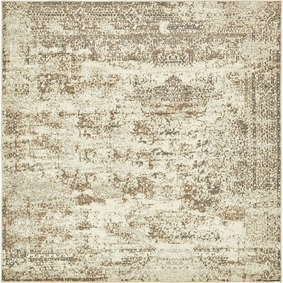 Pauley Cream Area Rug Rug Size: Square 8