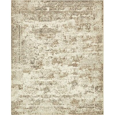 Forcalquier Abstract Cream Area Rug Rug Size: 8 x 10