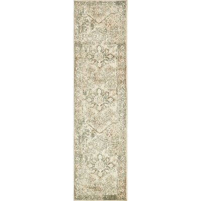 Pauley Cream Area Rug Rug Size: Runner 26 x 10