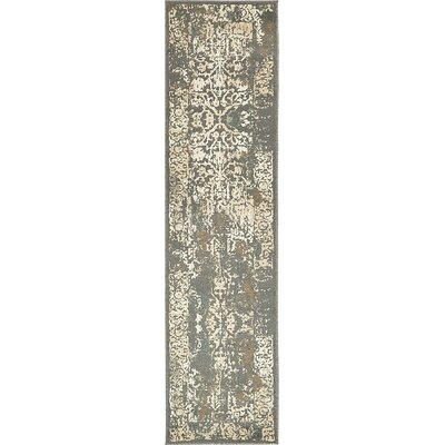 Pauley Gray Area Rug Rug Size: Runner 26 x 10