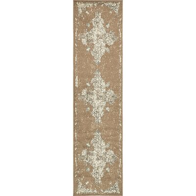 Pauley Brown Area Rug Rug Size: Runner 26 x 10