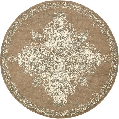 Forcalquier Tibetan Brown Area Rug Rug Size: Round 8