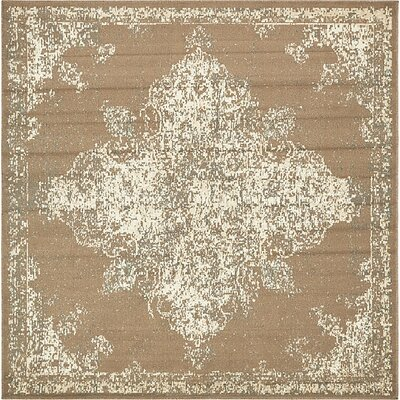 Forcalquier Tibetan Brown Area Rug Rug Size: Square 8