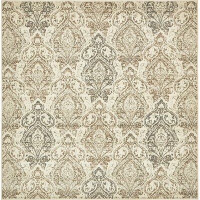 Forcalquier Oriental Beige Area Rug Rug Size: Square 8