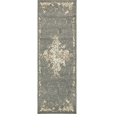 Pauley Gray Area Rug Rug Size: Runner 2 x 6