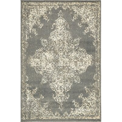 Forcalquier Abstract Gray Area Rug Rug Size: 4 x 6