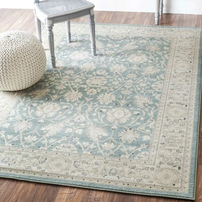 Rochelle Blue Area Rug Rug Size: Rectangle 53 x 77