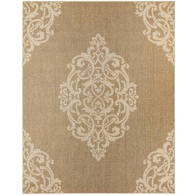 Paulk Denim/Gold Area Rug Rug Size: 5' x 7'