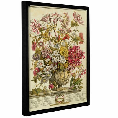 'October from Twelve Months of Flowers' Framed Graphic Art Size: 10