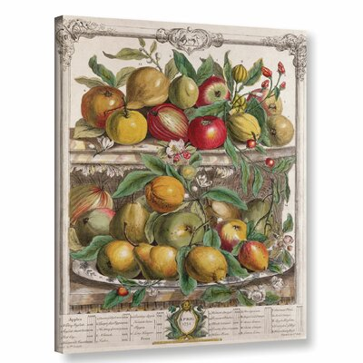 April from Twelve Months of Fruit Graphic Art on Wrapped Canvas
