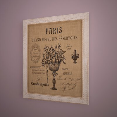 'Paris Hotel' Framed Graphic Art