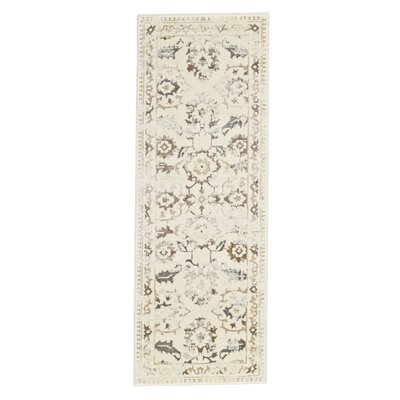 Nadia Cream/Gray Area Rug Rug Size: Runner 2'10