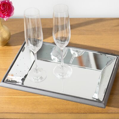 Lark Manor Glass Mirrored Tray
