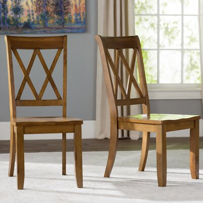 Saint-Gratien Side Chair (Set of 2) Finish: Weathered Grey