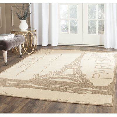 Fleming Beige/Brown Indoor/Outdoor Area Rug Rug Size: Rectangle 53 x 77