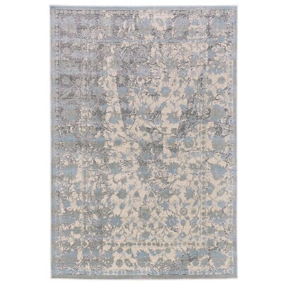 Pavonis Gray/Blue Area Rug Rug Size: Runner 2'10