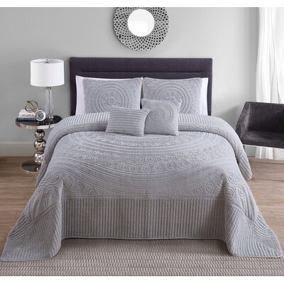 Eloise 5 Piece King Comforter Set Color: Gray