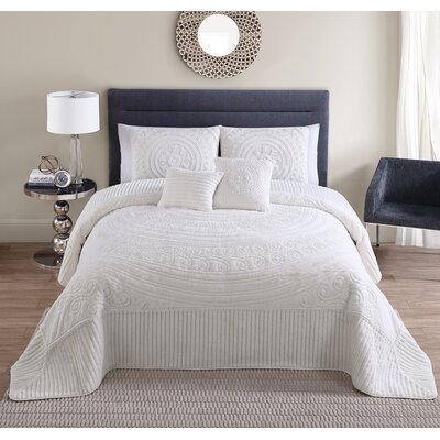 Eloise 5 Piece King Comforter Set Color: Ivory