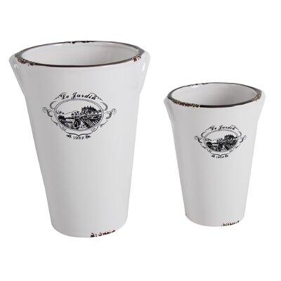 2-Piece Oval Pot Planter Set