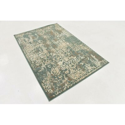 Forcalquier Green Indoor Area Rug Rug Size: 4 x 6