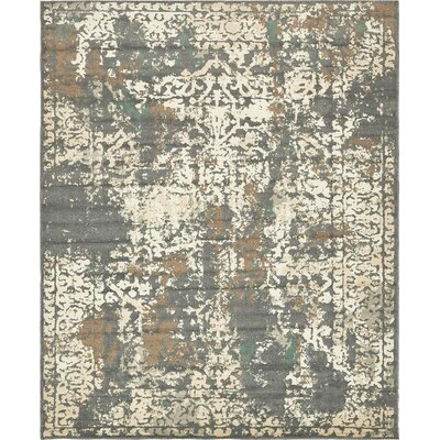 Pauley Gray Indoor Area Rug Rug Size: 8 x 10
