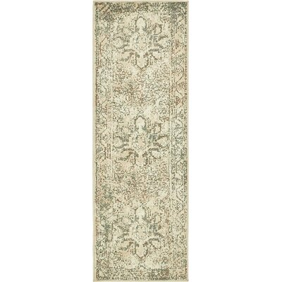 Pauley Cream Area Rug Rug Size: Runner 2 x 6