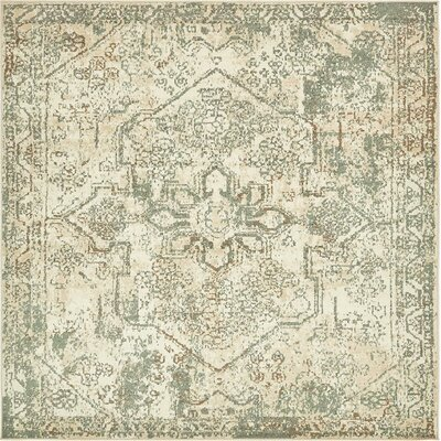 Pauley Cream Area Rug Rug Size: Square 8'