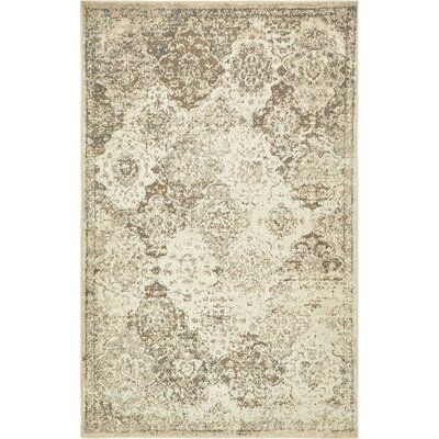 Pauley Beige Indoor Area Rug Rug Size: 4' x 6'