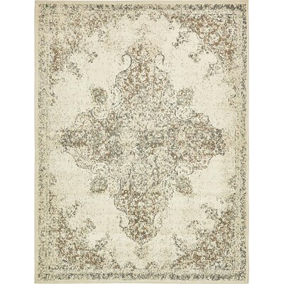 Forcalquier Cream Synthetic Indoor Area Rug Rug Size: 9 x 12