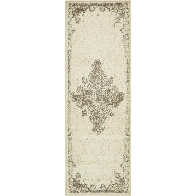 Forcalquier Cream Synthetic Indoor Area Rug Rug Size: Runner 2 x 6