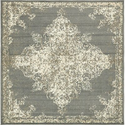 Forcalquier Southwestern Gray Indoor Area Rug Rug Size: Square 8