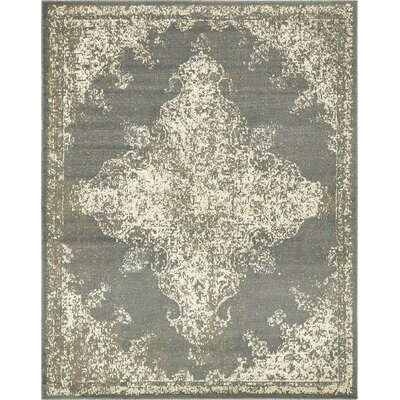 Forcalquier Southwestern Gray Indoor Area Rug Rug Size: 8 x 10