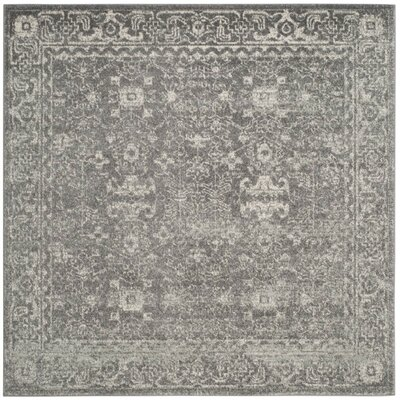Montelimar Gray/Ivory Area Rug Rug Size: Square 67