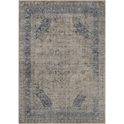 Barthe Beige/Khaki Area Rug Rug Size: Rectangle 67 x 96