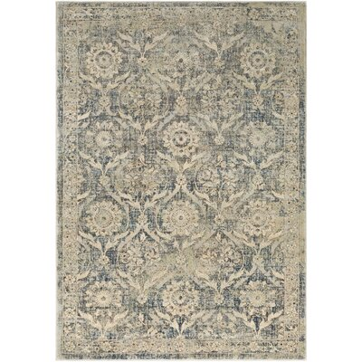 Ariad Khaki/Silver Gray Area Rug Rug Size: Rectangle 53 x 76
