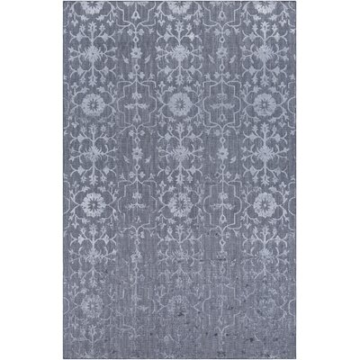 Poirier Hand-Knotted Medium Gray Area Rug Rug Size: 2 x 3