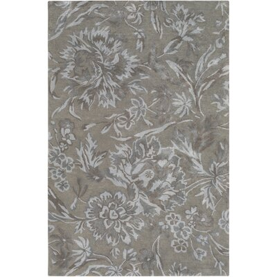 Caramont Hand-Tufted Medium Gray/Light Gray Area Rug Rug Size: Rectangle 8 x 10