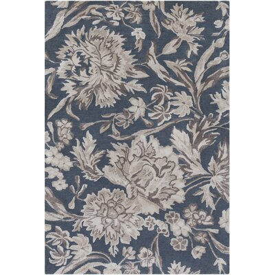 Caramont Hand-Tufted Charcoal/Dark Brown Area Rug Rug Size: 2 x 3