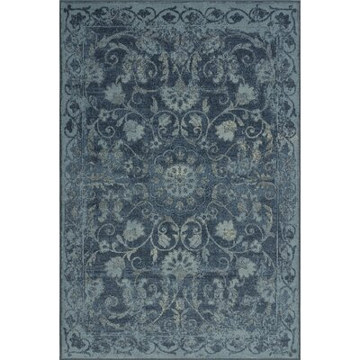 Charroux Denim Oriental Area Rug Rug Size: Rectangle 82 x 10