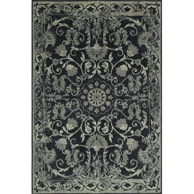 Charroux Black Area Rug Rug Size: Rectangle 33 x 51