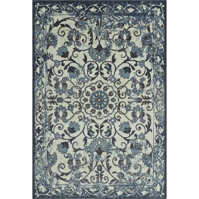 Charroux Oriental Ivory Area Rug Rug Size: Rectangle 3'3