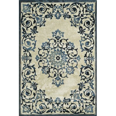 Charroux Ivory Area Rug Rug Size: Rectangle 33 x 51