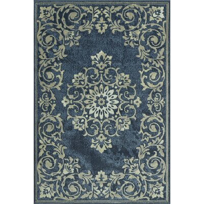 Charroux Denim/Gray Area Rug Rug Size: 33 x 51