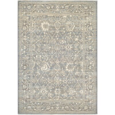 Alison Persian Arabesque Gray/Cream Area Rug Rug Size: Rectangle 53 x 76