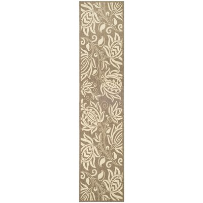 Marcella Brown & Natural Outdoor Area Rug Rug Size: Runner 23 x 14