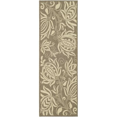 Marcella Brown & Natural Outdoor Area Rug Rug Size: Runner 24 x 67