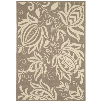 Marcella Brown & Natural Outdoor Area Rug Rug Size: Rectangle 53 x 77