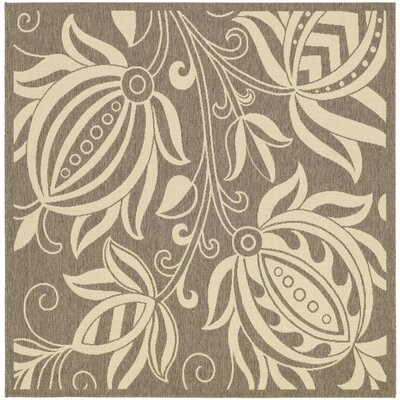 Marcella Brown & Natural Outdoor Area Rug Rug Size: Square 67
