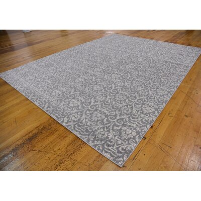 Alcera Gray Area Rug Rug Size: Rectangle 9 x 12